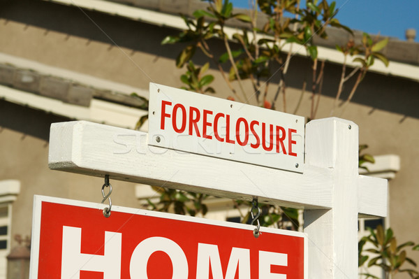Stock photo: Foreclosure Real Estate Sign