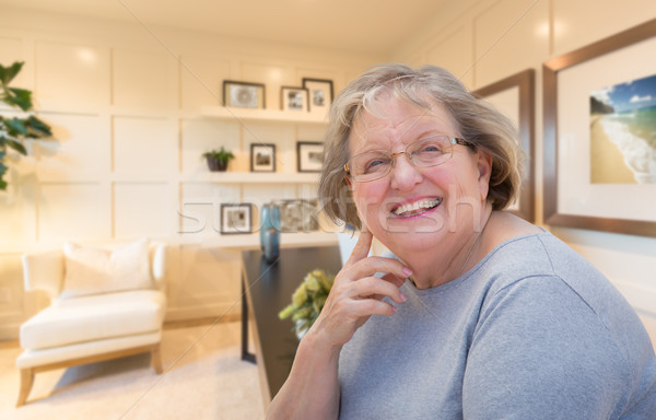 Senior Woman Inside Her Home Office. Stock photo © feverpitch