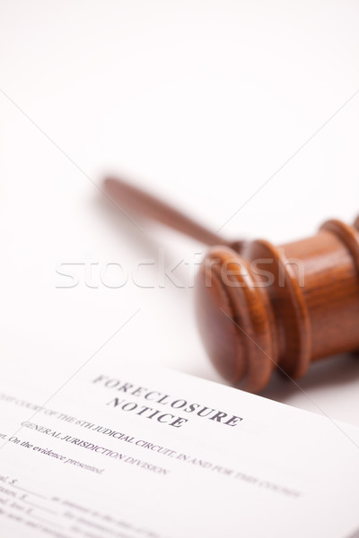 Foreclosure Notice and Gavel Stock photo © feverpitch