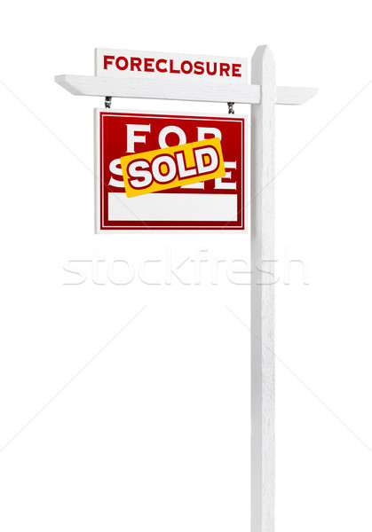 Forclusion vente immobilier signe Photo stock © feverpitch