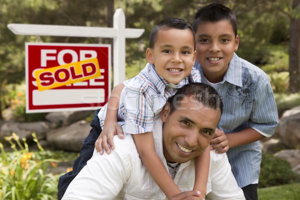 Stockfoto: Latino · vader · uitverkocht · onroerend · teken · home
