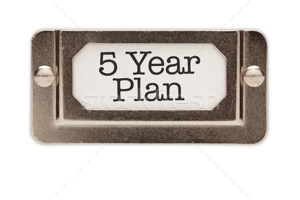 Stock foto: Jahr · Plan · Datei · Schublade · Label · isoliert