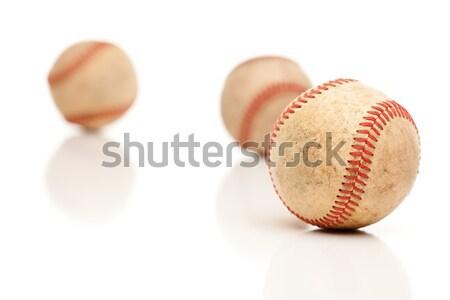 Trois isolé réfléchissant blanche équipe balle Photo stock © feverpitch