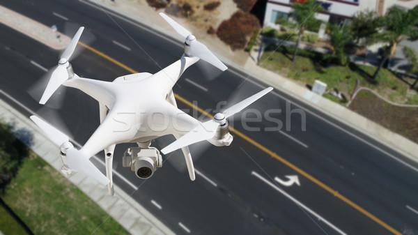 Aeronave ar céu rua avião vôo Foto stock © feverpitch