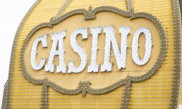 Antique Casino Sign on Building Stock photo © feverpitch