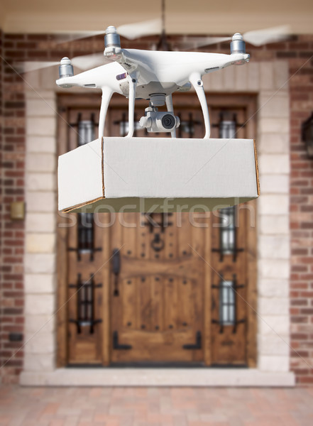 самолета пакет дома небе домой технологий Сток-фото © feverpitch