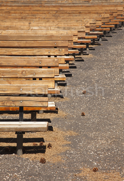 Outdoor Wooden Amphitheater Seating Abstract Stock photo © feverpitch