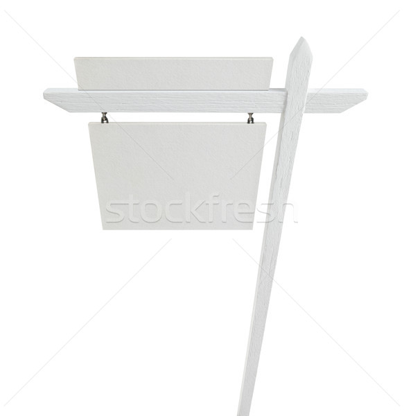 Blank Real Estate Sign with Upper Placard Ready For Your Own Tex Stock photo © feverpitch