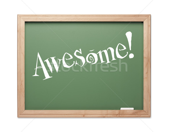 Awesome! Green Chalk Board Kudos Series Stock photo © feverpitch