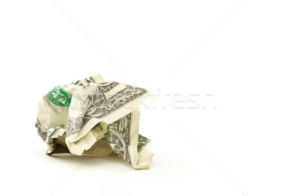 ストックフォト: ドル · 白 · お金 · 金融 · 成功 · ゴミ