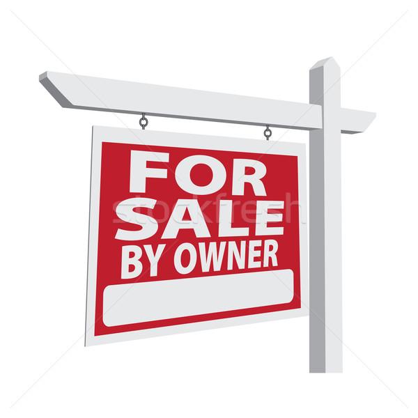 Verkauf Eigentümer Vektor Immobilien Zeichen bereit Stock foto © feverpitch