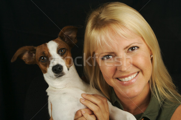 Attractive Woman & JRT Stock photo © feverpitch