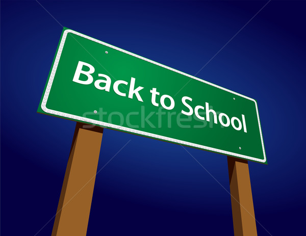Stok fotoğraf: Okula · geri · yol · işareti · örnek · okul · soyut · sanat