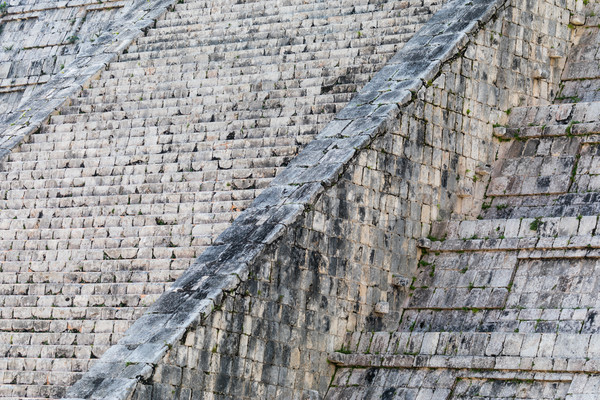 Abstract of the Steps of the Mayan El Castillo Pyramid at the Ar Stock photo © feverpitch