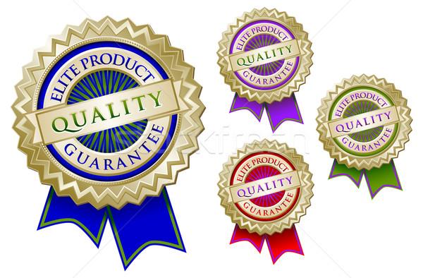 Establecer cuatro calidad élite producto garantizar Foto stock © feverpitch