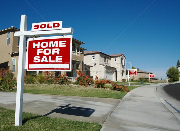 Vendido casa venda assinar novo Foto stock © feverpitch