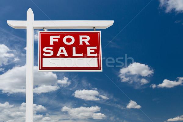 Helyes szemben vásár ingatlan felirat kék ég Stock fotó © feverpitch