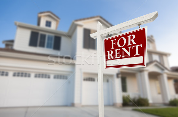 For Rent Real Estate Sign in Front of House Stock photo © feverpitch