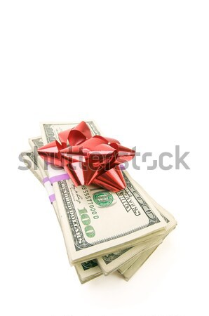 Stack of Money with Bow Stock photo © feverpitch