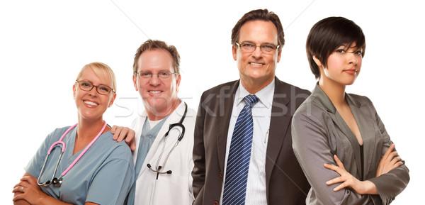 Halfbloed vrouwen zakenman artsen aantrekkelijk Stockfoto © feverpitch
