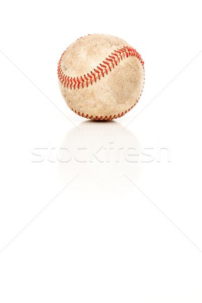 Baseball isolato bianco squadra palla Foto d'archivio © feverpitch