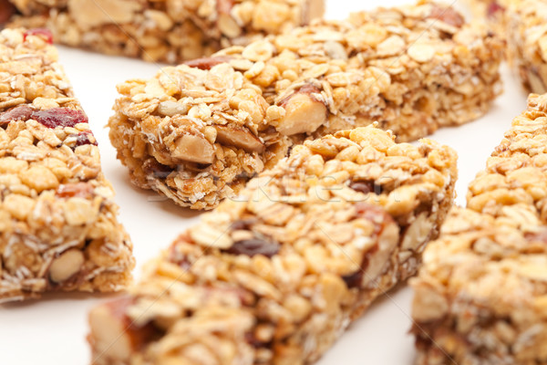 Several Granola Bars Isolated on White Stock photo © feverpitch
