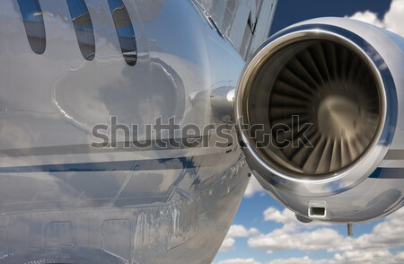 Private Jet Abstract with Sunburst Stock photo © feverpitch