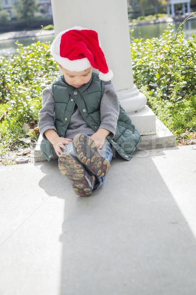 Melankoli erkek Noel Stok fotoğraf © feverpitch