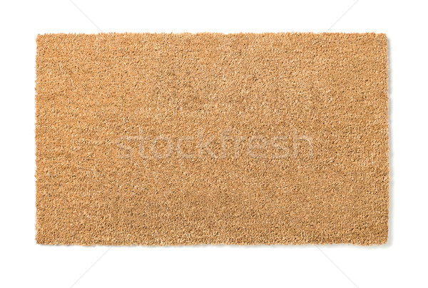 Blank Home Sweet Home Welcome Mat Isolated on White Stock photo © feverpitch