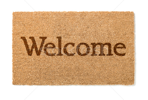 Welcome Mat On White Stock photo © feverpitch