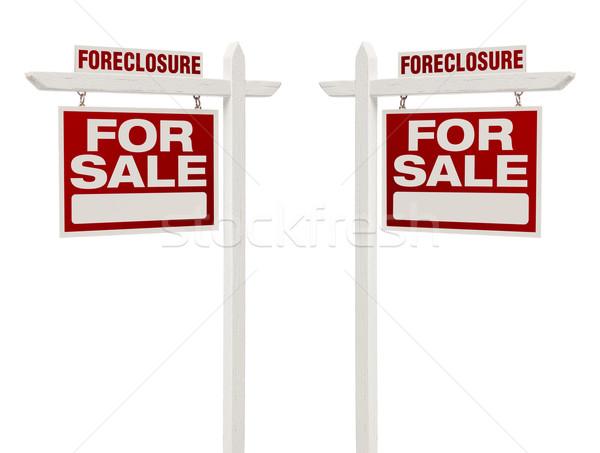 Iki cebri icra satış gayrimenkul işaretleri Stok fotoğraf © feverpitch