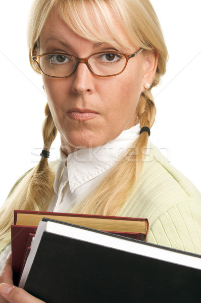 Stock photo: Attractive Student Carrying Her Books