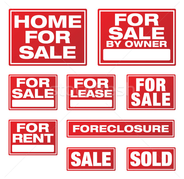 Real Estate and Business Signs Stock photo © feverpitch