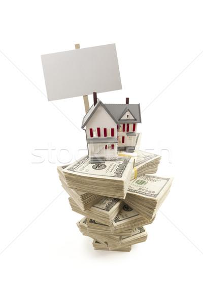 Klein huis honderd geïsoleerd Stockfoto © feverpitch