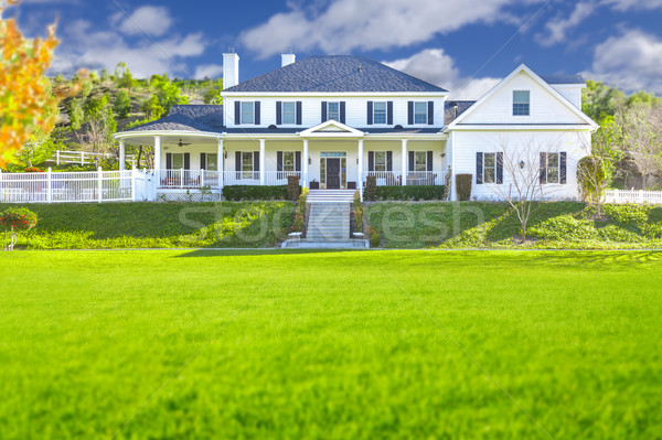 Beautiful Custom Built Home Facade Stock photo © feverpitch