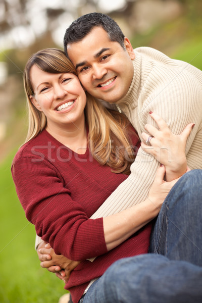 Attractive Mixed Race Couple Portrait Stock photo © feverpitch