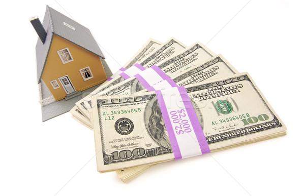 Foto stock: Casa · dinero · aislado · blanco · casa · efectivo