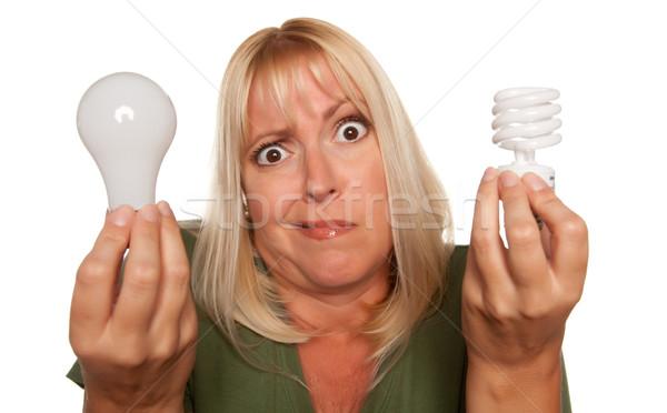 смешные женщину энергии регулярный Сток-фото © feverpitch