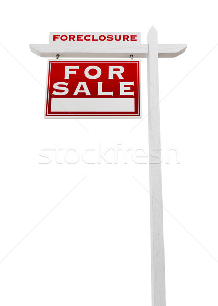 Left Facing Foreclosure Sold For Sale Real Estate Sign Isolated  Stock photo © feverpitch