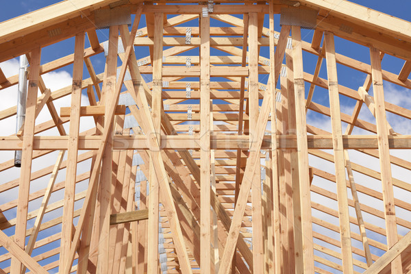Abstract of Home Framing Construction Site Stock photo © feverpitch