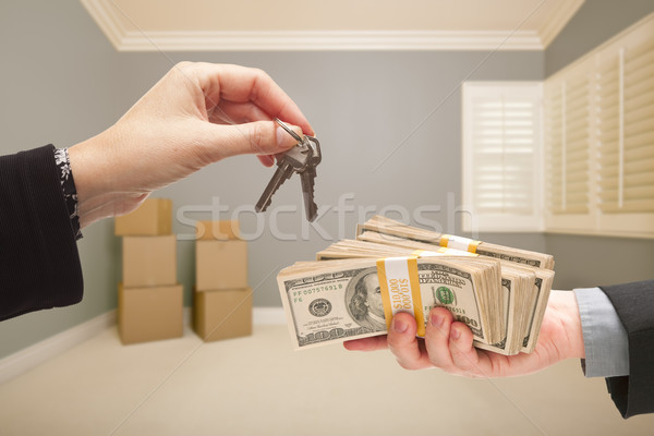 Handing Over Cash For House Keys Stock photo © feverpitch