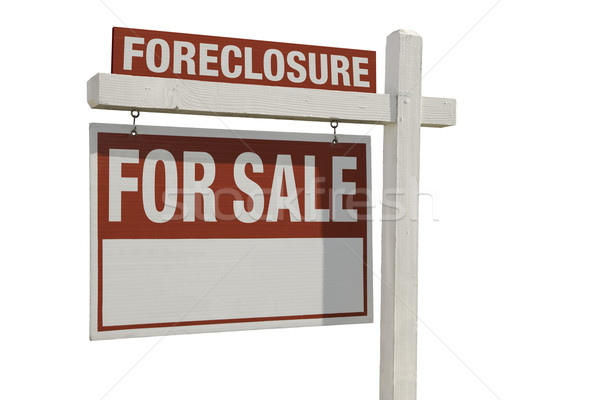 Foreclosure Home For Sale Real Estate Sign Stock photo © feverpitch