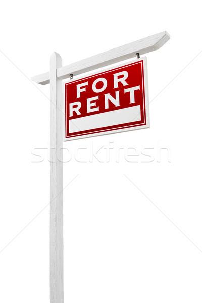 Helyes szemben bérlés ingatlan felirat izolált Stock fotó © feverpitch