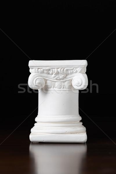 Bianco ionica design colonna buio architettura Foto d'archivio © feverpitch