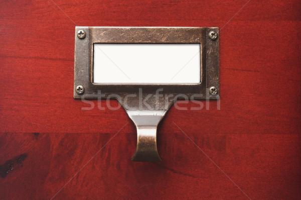 Stock fotó: Fából · készült · faliszekrény · akta · címke · drámai · fény