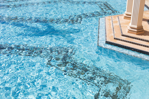 Exotic Luxury Swimming Pool Abstract Stock photo © feverpitch
