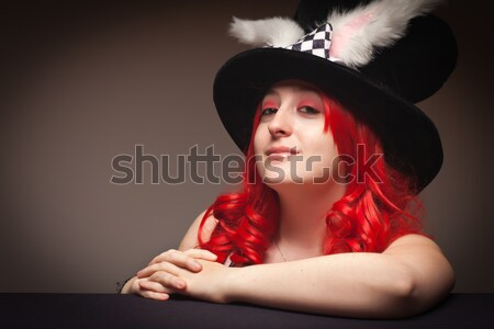 Attractive Red Haired Woman Portrait Stock photo © feverpitch