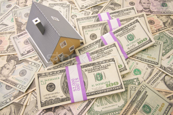 Stockfoto: Home · geld · huis · witte · cash · verkoop