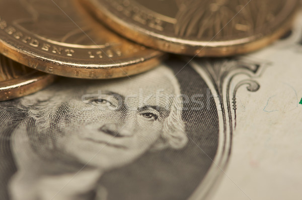 Abstract dollar munten nieuwe munt Stockfoto © feverpitch
