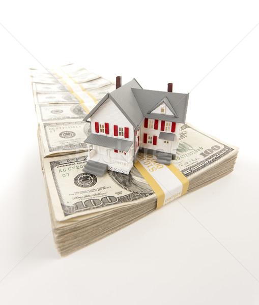 Foto stock: Pequeno · casa · cem · dólar · projeto · de · lei